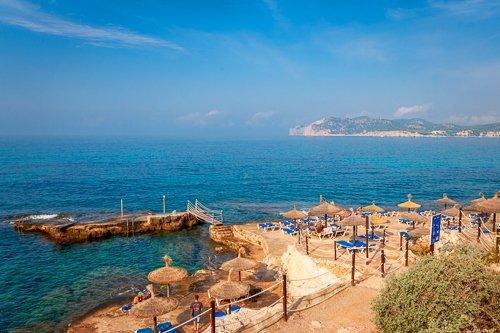 Vibrant Mediterranean Sea surrounds Mallorca